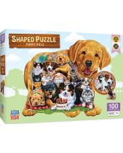 Puzzle Master Pieces de 100 piese -Pets Pals Shaped