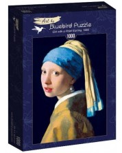 Puzzle Bluebird de 1000 piese - Girl with a Pearl Earring, 1665