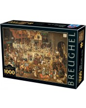 Puzzle D-Toys de 1000 piese - The Fight between Carnival and Lent -1