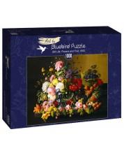 Puzzle Bluebird de 1000 piese - Still Life, Flowers and Fruit, 1855