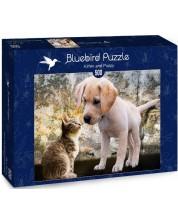 Puzzle Bluebird de 500 piese - Kitten and Puppy