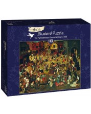 Puzzle Bluebird de 1000 piese - The Fight Between Carnival and Lent, 1559