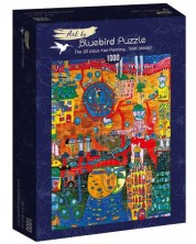 Puzzle Bluebird de 1000 piese - The 30 Days Fax Painting, 1996