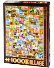 Puzzle D-Toys de 1000 piese - Colaj vintage, Bani
