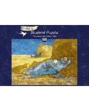 Puzzle Bluebird de 1000 piese - The siesta (after Millet), 1890