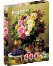 Puzzle Enjoy de 1000 piese - Still Life with Roses