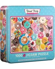 Puzzle Eurographics de 1000 piese - Donut Party Tin