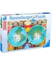 Puzzle Ravensburger de 3000 piese - Harta antica a lumii