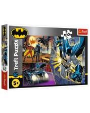 Puzzle Trefl de 100 piese - Fearless Batman