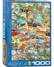 Puzzle Eurographics de 1000 piese - Vintage Travel Collage