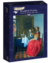 Puzzle Bluebird de 1000 piese -The Girl with the Wine Glass, 1659