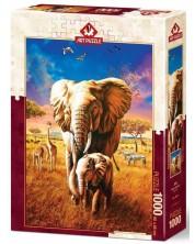 Puzzle Art Puzzle, 1000 piese - Elefanti