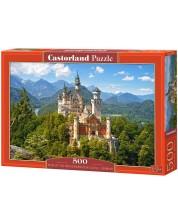 Puzzle Castorland de 500 piese - View of the Neuschwanstein Castle, Germany