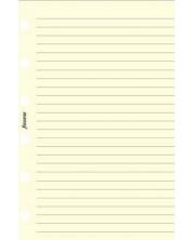 Rezerva pentru organizator Filofax - Pocket, cu randuri, crem