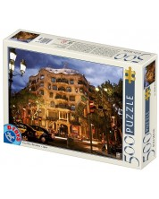 Puzzle D-Toys de 500 piese - Casa Mila, Barcelona, Spain -1