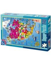 Puzzle D-Toys de 240 piese - Maps -1