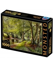 Puzzle D-Toys de 1000 piese - A Summer Day in the Forest with Deer in the Background -1