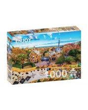 Puzzle Enjoy de 1000 piese - View from Park Guell, Barcelona