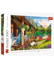 Puzzle Trefl de 500 piese - Cabin in the Mountains