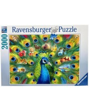 Puzzle Ravensburger de 2000 piesw - Land of the Peacock