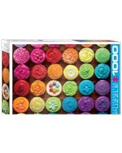 Puzzle Eurographics de 1000 piese - Cupcake Rainbow -1