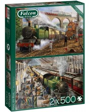 Puzzle Falcon din 2 х 500 piese - Mail by Rail -1