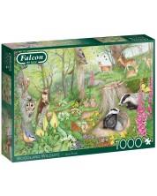 Puzzle Falcon de 1000 piese - Woodland Wildlife