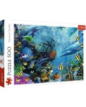 Puzzle Trefl de 500 piese - Frumusetea fundului marii