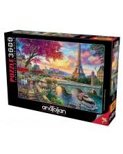 Puzzle Anatolian de 3000 piese - Parisul inflorit