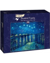Puzzle Bluebird de 1000 piese - Starry Night over the Rhône, 1888
