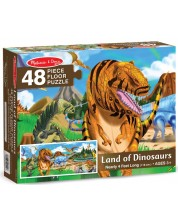 Puzzle pentru podea Melissa & Doug - Dinozauri, 48 piese