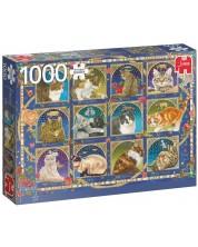 Puzzle Jumbo de 1000 piese - Cat Horoscope
