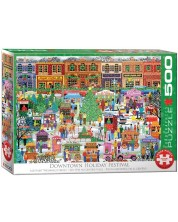 Puzzle Eurographics de 500 XXL piese - Downtown Holiday Festival