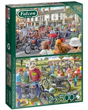Puzzle Falcon din 2 x 500 piese -The Motorcycle Show