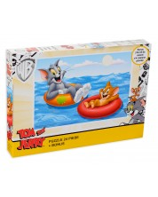 Puzzle King de 24 piese - Tom and Jerry