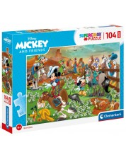 Puzzle Clementoni de 104 piese - Mickey and friends