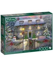 Puzzle  Falcon de 1000 piese - The Christmas Cottage -1
