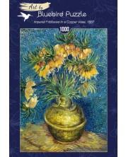 Puzzle Bluebird de 1000 piese - Imperial Fritillaries in a Copper Vase, 1887