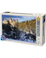 Puzzle D-Toys de 500 piese - Bran Castle, Romania -1