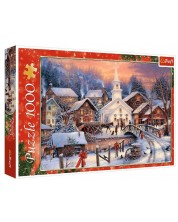 Puzzle Trefl de 1000 piese - Craciun alb