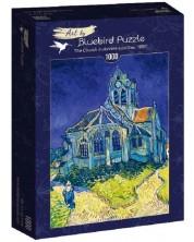 Puzzle Bluebird de 1000 piese - The Church in Auvers-sur-Oise, 1890