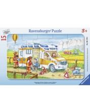 Puzzle Ravensburger de 15 piese -Ambulance in action