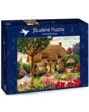 Puzzle Bluebird de 1000 piese - Thatched Cottage