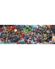 Puzzle panoramic Trefl de 1000 piese - Lumea Marvell
