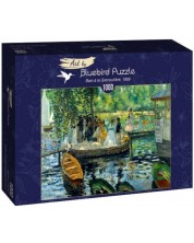Puzzle Bluebird de 1000 piese - Bain a la Grenouillere, 1969