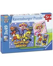 Puzzle Ravensburger 3 de cate 49 piese - Patrula catelusilor