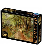 Puzzle D-Toys de 1000 piese - A Spring Day in the Woods with Fresh-Blown Beeches and Anemones in the Forest Bed -1