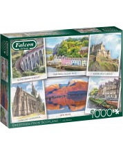 Puzzle Falcon de 1000 piese -Greetings from Scotland -1