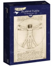Puzzle Bluebird de 1000 piese - The Vitruvian Man, 1490