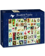 Puzzle Bluebird de 1000 piese - Christmas Stamps